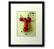 T is for TOMATOES! Framed Print