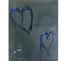 Lonely Blue Hearts Photographic Print
