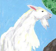 Billy Goat Snacking by hopelessmoo