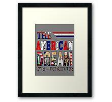 Fourth of July America Framed Print