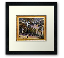 SLOPING HILLS Framed Print