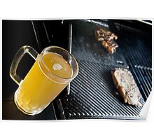Beer and Steak Poster