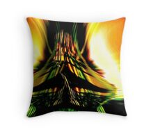 colliding time, now and then..... abstract meeting Throw Pillow
