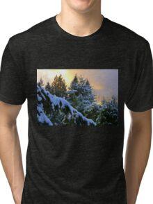 Frosty Alpenglow Tri-blend T-Shirt