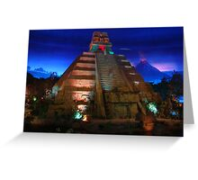 Epcot Center inside Mexico Pavillion Greeting Card