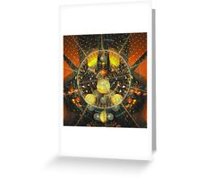 Alien town Greeting Card