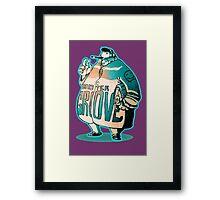 MR GROOVE. Framed Print