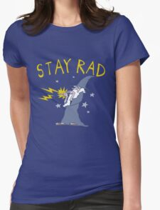Stay Rad Wizard Womens Fitted T-Shirt
