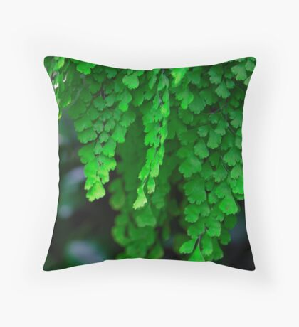 Maiden Hair Fern Throw Pillow
