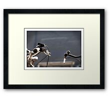 the creation of adam (with bikes) Framed Print