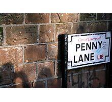 penny lane Photographic Print