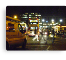 Night in the City (Edinburgh) Canvas Print