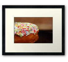 donut with sprinkles Framed Print