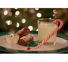 Food and Drink For Santa Photographic Print