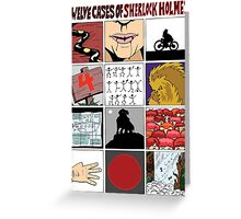 12 Cases of Sherlock Holmes Greeting Card