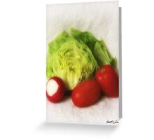 Lettuce Radish Tomato 2 Greeting Card