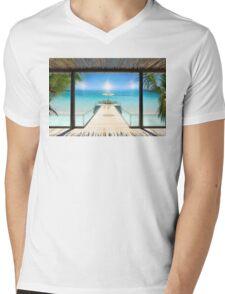 Sun Halo in the Seychelles Mens V-Neck T-Shirt
