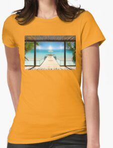 Sun Halo in the Seychelles Womens Fitted T-Shirt