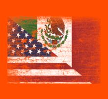 Vintage Mexican American Flag Cool T-Shirt Kids Clothes