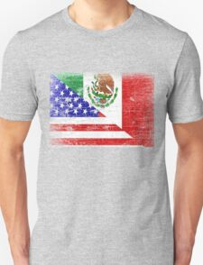 Vintage Mexican American Flag Cool T-Shirt T-Shirt