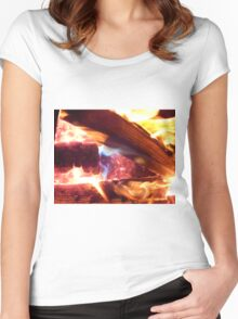red flame Women's Fitted Scoop T-Shirt