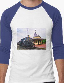 Locomotive Steam Engine Men's Baseball ¾ T-Shirt