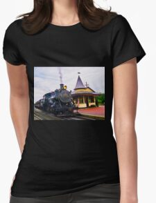 Locomotive Steam Engine Womens Fitted T-Shirt