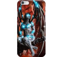 Robot Angel Painting 014 iPhone Case/Skin
