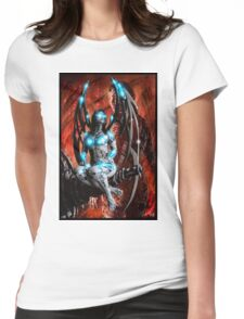 Robot Angel Painting 014 Womens Fitted T-Shirt