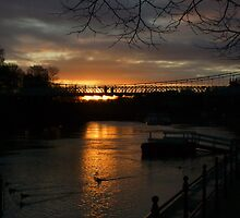 SunSet on the River Dee, Chester. UK by AnnDixon