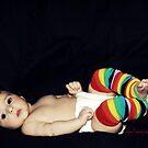 rainbow striped baby by Angel Warda