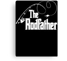 The Rodfather Fishing Parody T Shirt Canvas Print