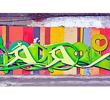 Colorful graffiti Photographic Print