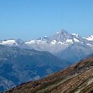 View from top of Gornergrat  Zermatt Switzerland by Monica Engeler