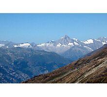 View from top of Gornergrat  Zermatt Switzerland Photographic Print