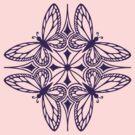 butterfly mandala - one flutter! by Sarah Jane Bingham