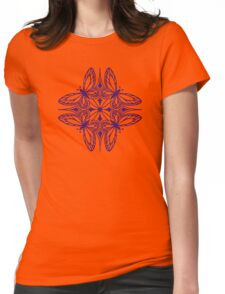 butterfly mandala - one flutter! Womens Fitted T-Shirt
