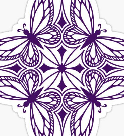 butterfly mandala - one flutter! Sticker