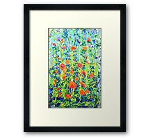 Flowers - original abstract painting Framed Print