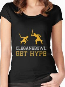 CLEGANEBOWL GET HYPE Women's Fitted Scoop T-Shirt