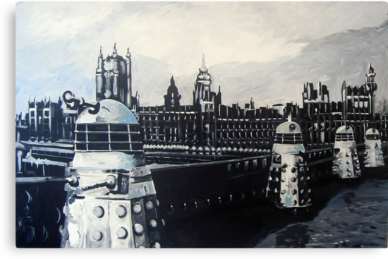 Daleks 'Over London' by Greg Hart