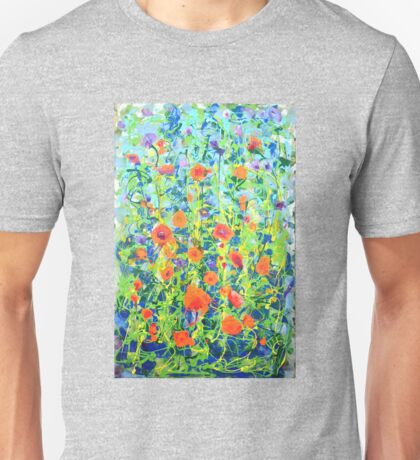 Flowers - original abstract painting Unisex T-Shirt