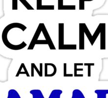 Keep Calm and Let HAMADI Handle it Sticker