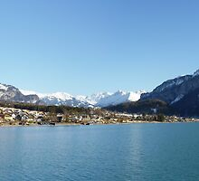 Brienz' village and part of the Berner Alps by Fran E.