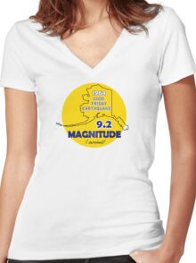 ALASKA EARTHQUAKE 1964 Women's Fitted V-Neck T-Shirt