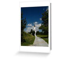 Church on a Hill Greeting Card