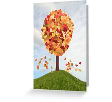 One Tree Hill Where Love Grows Greeting Card