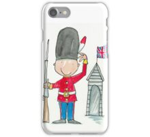 Saluting Guardsman on Sentry Duty  iPhone Case/Skin