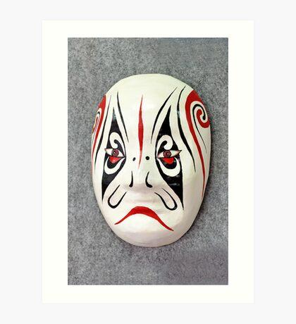 Chinese opera mask Art Print