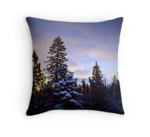 Tahoe in the morning Throw Pillow